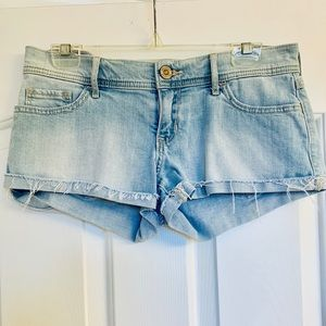 Hollister low rise jean shorts